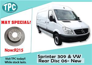 Mercedes Benz Sprinter 309 & VW Rear Disc 06- New For Sale at TPC