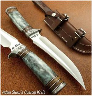 Handmade Stainless Steel Hunting Bowie Knife 11.45""