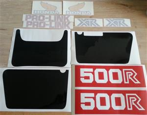 1981 XR 500R decals stickers vinyl cut graphics