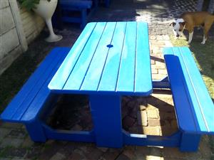 Used picnic benches