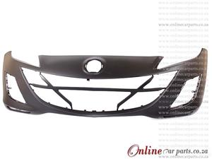 Mazda 1.6 Sedan/Hatchback Front Bumper With Fog Light Fog Lamp Holes Primed 2009-