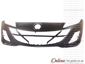 Mazda 1.6 Sedan/Hatchback Front Bumper With Fog Light Fog Lamp Holes Primed 2009-