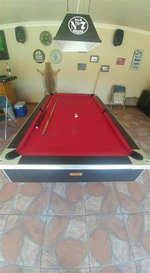 Red pooltable for sale