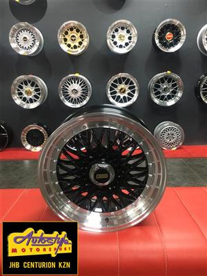 New Design Polished Studded 15 inch and 17 inch  BSS BBS Style Rims