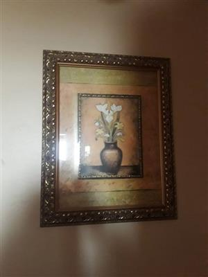 Blompot geraamde portret