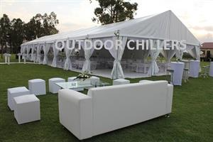 TENT, MARQUEES,FRIDGES, CODLROOMS, AIRCONS, TOILETS, SHOWERS, STAGES,  SUNBOW MARQUEE AND CHAIR HIRE