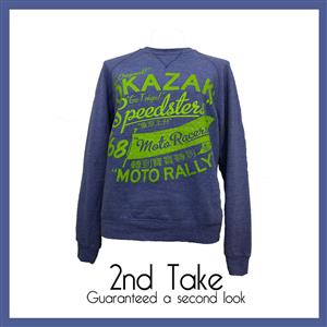 Add this Lokso Laudry blue printed jumper to your winter wear collection and keep the cold away
