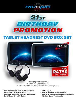 Tablet Headrest DVD Box Set