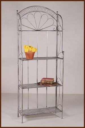 4 Shelf metal display rack