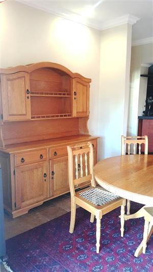 Elegant Oak Dining Table and Dresser