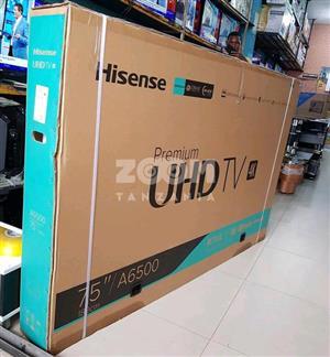 HISENSE UHD 75.0 INCHES  TV'S NEW