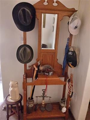Wooden hat holder dresser for sale