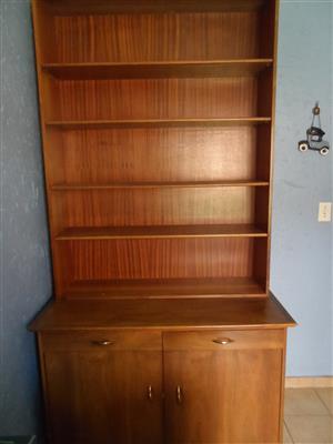 Meranti wood Bookshelf with cupboard for sale