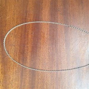 a Plain Silver necklace