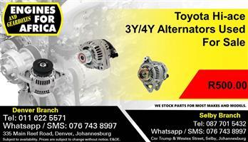 Toyota Hi-ace 3Y/4Y Alternators Used For Sale.