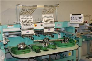 Double heads 15 colours embroidery machine in perfect condition
