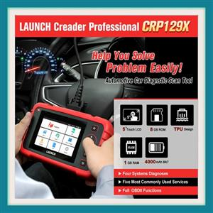 LAUNCH CRP129X OBD2 Scan Tool Android Based Upgraded from CRP129, 4 System Diagnoses with Oil Reset, EPB/SAS/TPMS and Throttle Service, AutoVIN for Small Shops and DIYers