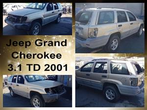 Jeep Grand Cherokee 3.1 TD 2001 spares for sale.