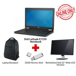 Refurbished DELL LATITUDE E7250 Core i5 Notebook Bundle