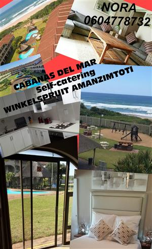 2 BED - SELF-CATERING WINKELSPRUIT AMANZIMTOTI, 24 HR SEC, GROUND FLOOR, ON THE BEACH