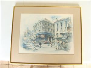 2 x prints of Philip Banzowitz?Pritchard Street & Diagonal Street