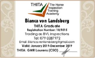 Home Inspector - SASHI & THITA Accredited