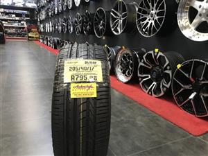 17 inch tyres tire 205-40-17 Dunlop brand new