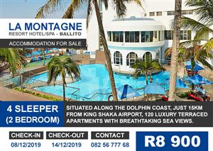 December Holiday Accomodation - La Montagne - Durban, Ballito - Self catering - 2 Bedroom, 4 Sleeper