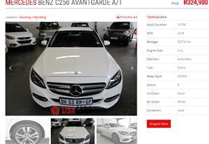 2014 Mercedes Benz C Class C250 Avantgarde