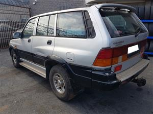 SSangyong Musso 1996 2.9 602EL stripping for spares.