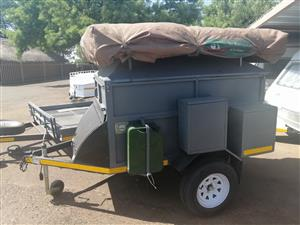 Very strong off road trailer with rooftop tent