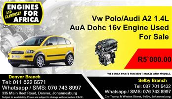 Vw Polo/Audi A2 1.4L AuA Doh 16v Engine Used For Sale