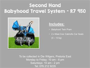 Second Hand Babyhood Travel System