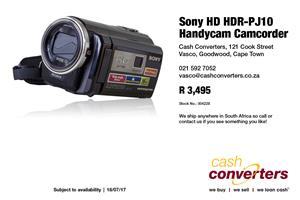 Sony HD HDR-PJ10 Handycam Camcorder