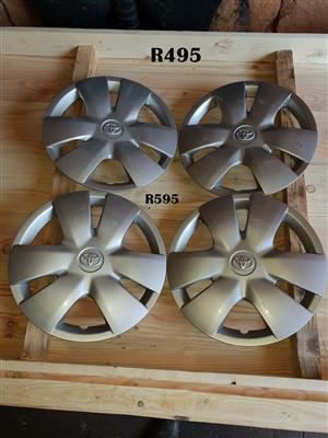 4 x Toyota Wheel Caps