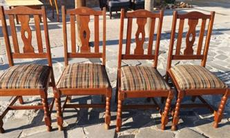 Vintage Barley Twist Chairs x 4 (height to seat 49 cm) R2295