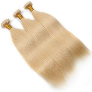 Virgin Indian Straight Human Hair Blonde Color 3pcs/Lot