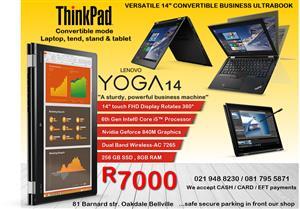 ThinkPad Yoga 14-inch FHD Display Rotates 360°BUSINESS ULTRABOOK 2 Year Warranty