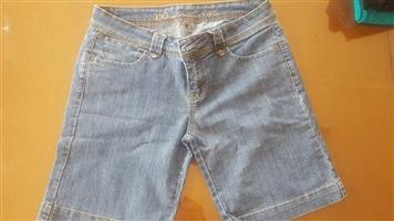 Above knee length denim shorts