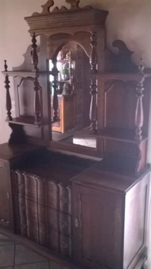 Sideboard with Mirror display piece