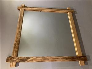 Hand - Crafted Solid Iron Wood Mirror