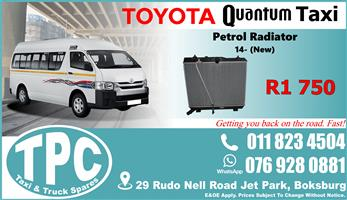Toyota Quantum Petrol Radiator 14- - New - Quality Replacement Taxi Spare Parts.