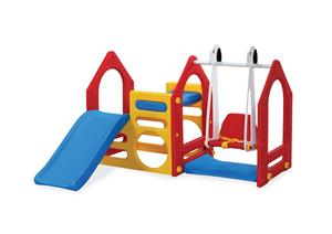 Kids Playhouse Adventures with Slide & Swing