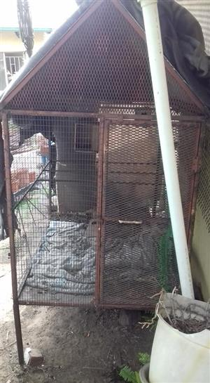 Old rusted large cage for sale