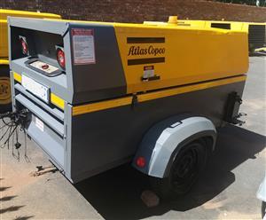 2013 Atlas Copco 290cfm Mobile Diesel Compressor