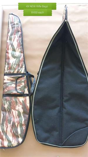 4 NEW RIFLE BAGS FOR SALE