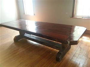 Conference Room Sleeper Wood Table 3m/12 seater alone R 15 000