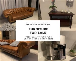 Quality furniture looking for a new home