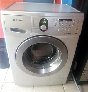 6kg Samsung Silver Metallic Front loader washing machine