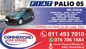 Fiat Palio 2005 Spares and parts for sale